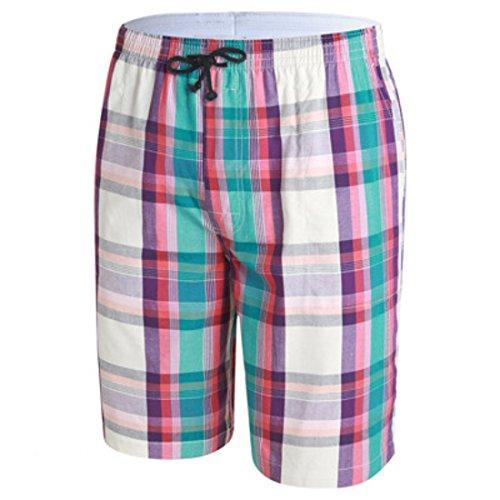 Men's Casual Knee Length Beach Shorts BlanchedAlmond