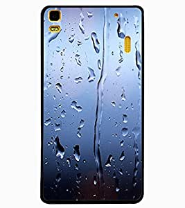 ColourCraft Beautiful Rain Pattern Design Back Case Cover for LENOVO K3 NOTE