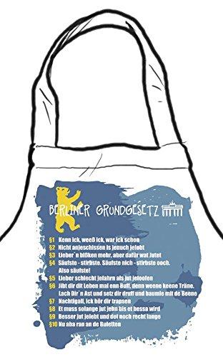 """Die Stadtmeister - Grembiule da cucina/da griglia con scritta \Berliner Grundgesetz\"""""""