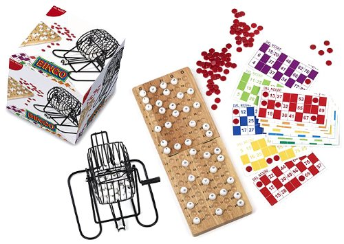 Dal Negro Bingo Set (90Kugeln, Metall Käfig) (Bingo-käfig Set)