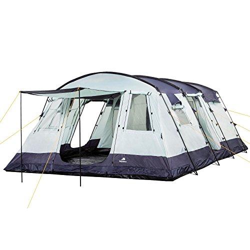CampFeuer - 6 Personen Familienzelt, riesiger Vorraum, 5000 mm Wassersäule, Campingzelt, (+ 6 weitere Personen im Vorraum möglich)