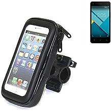 Montaje de la bici para BQ Aquaris M4.5, montaje del manillar para smartphones / teléfonos móviles, de aplicación universal. Conveniente para la bicicleta, motocicleta, quad, moto, etc. repelente al agua, a prueba de salpicaduras a prueba de lluvia, sostenedor del teléfono móvil de la bicicleta. | Bastidores de bicicletas Bikeholder bicicletas Navi titular titular GPS Pannier BQ Aquaris M4.5 manillar montar la caja al aire libre