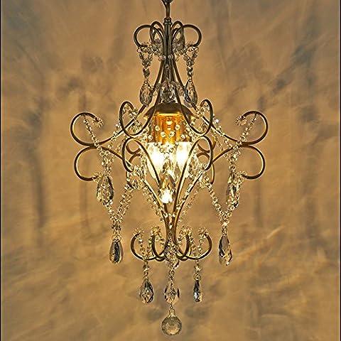 MINDAN-American village creative piccoli lampadari francese seppia Ristorante Cristallo di