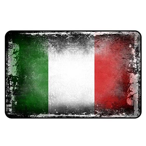 Cadora Magnetschild Kühlschrankmagnet Flagge Italien shabby chic abgenutzt alt gebraucht (Humorvoll Kühlschrank-magnete)