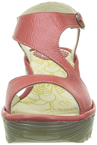 FLY London  Yanca,  Damen Slingback Sandalen Rot - Rouge (Mousse Scarlet)