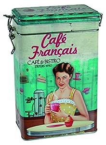 Boîte de rangement Out of the Blue Cafe Francais Café et thé, turquoise/bleu/rouge/marron