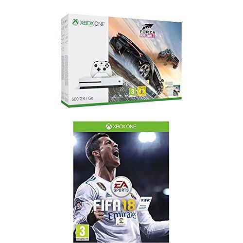 Xbox One S - Consola De 500 GB + Forza Horizon 3 + Fifa 18 - Edición Estándar
