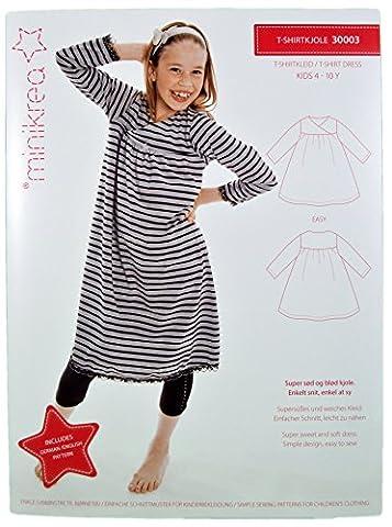 Schnittmuster T-Shirtkleid Kleid für Kinder / Gr. 104-146cm /