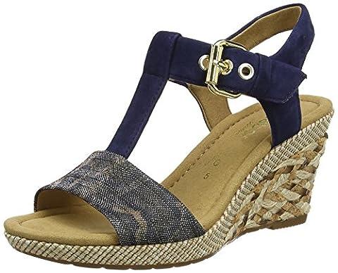 Gabor Shoes Damen Comfort Wedges, Blau (Blue (Ba.St) 46), 39 EU