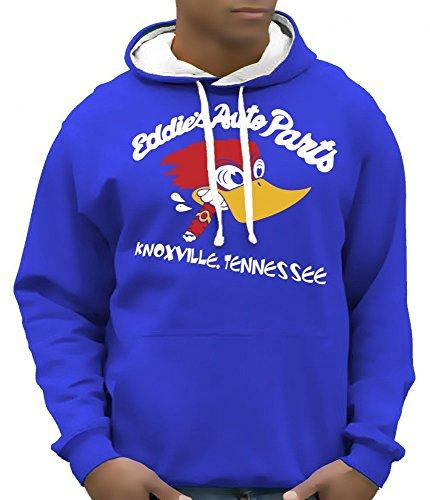 Eddies auto Parts Knoxville felpa con cappuccio felpa con cappuccio-Colori assortiti Taglia S M L XL XXL blu/bianco XXL - 70 Chevy Chevelle