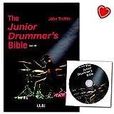 The Junior Drummer S BIBLE-scrittore John Trotter-Semplice strumento musicale notazione per 5-anni allievi-libro con CD e, herzfoermiger Note di