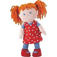 Haba 3295 - Weichpuppe Trotzkopf Mette, süße, freche Stoffpuppe mit Kleidung und Haaren, 30 cm, Spielzeug ab 18 Monaten