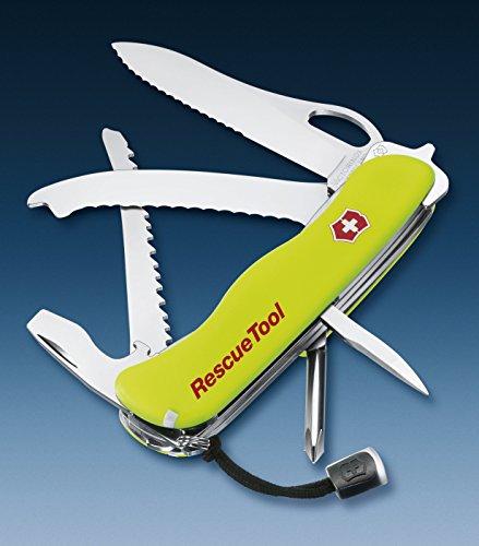 51bJ2PIO6fL - Victorinox Sport 08623MWN Rescuel Tool Swiss Knife-Pink, One Size, Yellow
