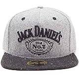 Jack Daniels Baseball Cap Classic Logo offiziell Nue Grau Snapback One Size