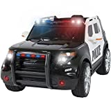 #8: Best Choice Products Ford Style 12V Ride On Car Police Car W/ Remote Control, 2 Speeds, LED Lights