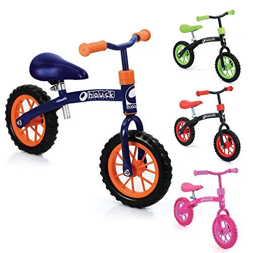 Hauck E-Z Rider Kinderlaufrad - 10 Zoll Laufrad, für Kinder ab 2, Lenker und Sattel höhenverstellbar, techno navy