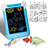 Tablet de Escritura LCD, Xpassion Portátil 3D Mágico Tableta LED Educativo Infantil Dibujo Pizarra para Juguetes para Hogar, Escuela, Oficina, Cuaderno de Notas