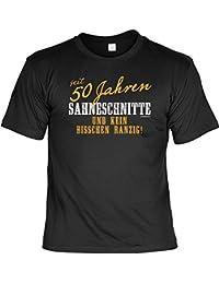 T-Shirt - Seit 50 Jahren Sahneschnitte - Kein Bisschen Ranzig -Lustiges Sprüche Shirt Als Geschenk für Geburtstagskinder mit Humor