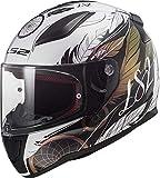 LS2 FF353 RAPID BOHO - Casco da moto, taglia M, colore: Bianco/Nero/Rosa