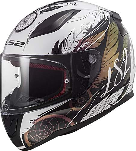 LS2 FF353 RAPID BOHO - Casco per moto, taglia XS, colore: Bianco/Nero/Rosa