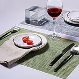 takagawa 4/lot portabletable Isolierung Matte PVC-Isolierung Schüssel PVC Platzsets Esstisch Pad Western Tisch Tisch-Sets, PVC, The hemp color 4 meters, 45cm*30cm
