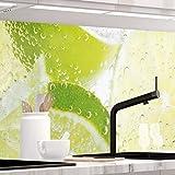 StickerProfis Küchenrückwand selbstklebend Premium GRÜNE LIMETTEN 60 x 280cm DIY - Do It Yourself PVC Spritzschutz
