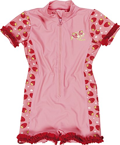 Erdbeer Badeanzug (Playshoes Mädchen Badeanzüge Erdbeeren, Gr. 98 (Herstellergröße: 98/104), Rosa (original 900))