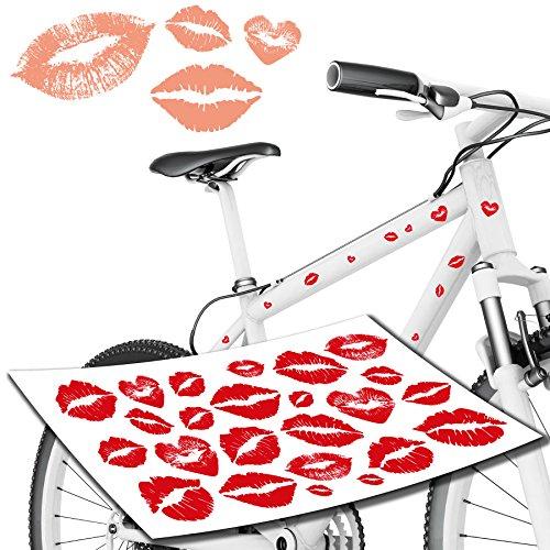 Tops Kundenauftrag (Kussmund Liebe Herzen Sticker und Aufkleber als Fahrradaufkleber & Co TOP)