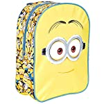 Despicable me Backpack for Kids - Yellow School Bag with Minions Print - Small Backpack for School and Kindergarten with Adjustable Shoulder Straps - 31x24x10 cm - Perletti
