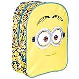 Kinder Rucksack für Jungen Ich Einfach unverbesserlich - Gelb Schulranzen mit Minions - Schulrucksack für Schule und Kindergarten mit Verstellbaren Schulterriemen - Perletti 31x24x10 cm