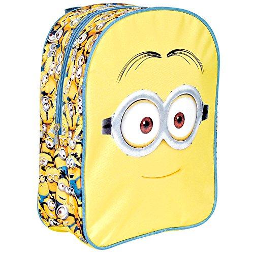 Kinder Rucksack für Jungen Ich Einfach unverbesserlich - Gelb Schulranzen mit Minions - Schulrucksack für Schule und Kindergarten mit Verstellbaren Schulterriemen - Perletti 31x24x10 cm (Despicable 2 Mädchen Me Minion Kostüm)