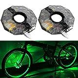 lzn 1/2pcs nachladbare LED RGB bunte Fahrrad-Rad-Naben-Licht-wasserdichte Fahrrad-Speichen-Lichter für Sicherheitswarnung Dekor