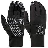 SKYSPER Touchscreen Handschuhe Herrn Sport Fahrradhandschuhe Winter Radsporthandschuhe Rutschfeste Wasserdichte Fitness Handschuhe für Radsport Wandern