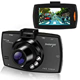 Dash Cam HD 1080P 2.7' Auto Kamera Auto DVR Kamera Dashcamera Recorder mit 140° Weitwinkelobjektiv G-Sensor Bewegungserkennung Loop Recorder Nachtsicht und Parkmonitor