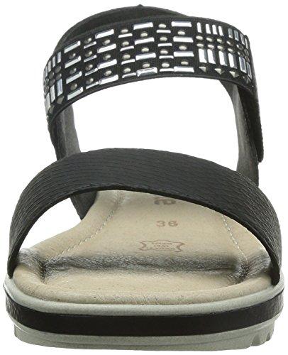 Remonte R4551, Sandales Plateforme femme Noir (schwarz/schwarz / 01)