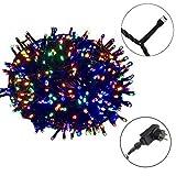 AUFUN LED Lichterkette Außen Bunt Außenlichterkette Weihnachtsbeleuchtung Wasserdicht IP44 mit 8 Leuchtmodi für Hochzeit,Party,Garten (50m,500LEDs,Bunt)