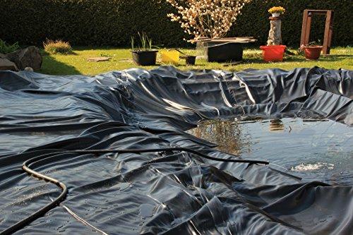 Teichfolie Gartenteichfolie 1,0mm schwarz Folie für den Gartenteich Teichbau verschiedene Abmaße … (1m lang, schwarz 2m breit) - 2