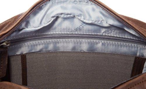 Bugatti Borsa Messenger, Go West, Marrone  Braun (Braun Braun), 49530702 Braun (Braun Braun)