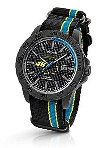 Reloj Valentino Rossi 46 VR10 by TW Steel - 45mm - Caja de carbono, correa de silicona color negro-azul de TW Steel
