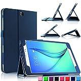 Infiland Samsung Galaxy tab A 9.7 Funda Case-Folio PU Cuero Cascara Delgada con Soporte para Samsung Galaxy Tab A 9.7 T550N/ T555N 24,6 cm WiFi/LTE Tablet-PC (9,7 pulgadas) (con Auto Reposo / Activación Función)(Azul Oscuro)
