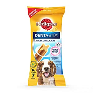 Pedigree Dentastix, Dental Care Dog Treat for Adult Medium Breed(10-25kg) Dogs