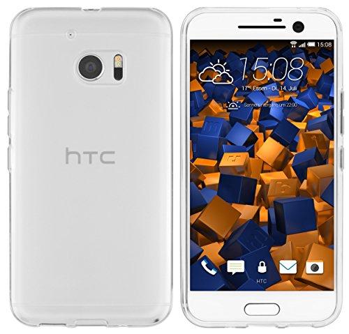 mumbi Schutzhülle für HTC 10 Hülle transparent weiss