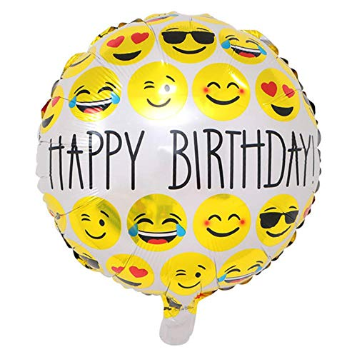 37eae8f2c HuXwei Party Happy Birthday Expression Balloons Funny Emoji Foil Balloon  Birthday Party Decoration Baby Shower Kids