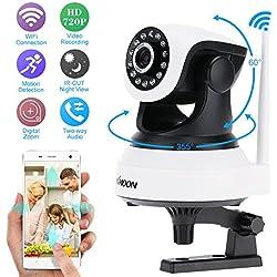 KKmoon HD 720p Megapixel Wireless WiFi Pan Tilt Netzwerk IP Kamera Baby Monitor Indoor Unterstützt PTZ TF Karte Datensatz 2-Wege sprechen P2P Android/iOS AP für CCTV-Überwachung-Sicherheitssystem