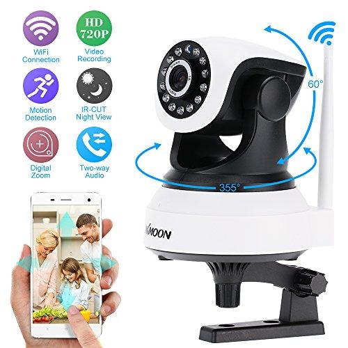 KKmoon-Webcam-inalmbrica-Wifi-720P-HD-H264-P2P-1-MP-AP-Red-IP-Carlos-IR-Seguridad-Cmara-PT