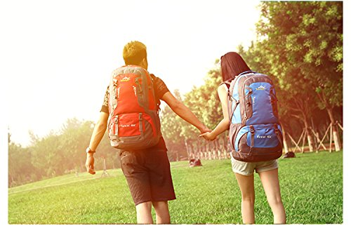 Wanderrucksäcke, Trekkingrucksäcke, Camping Rucksack / Reisen Rucksack / Trekking Rucksäcke / Casual Daypack Tasche für Outdoor Sport Wandern Trekking Camping Klettern Berg orange 4