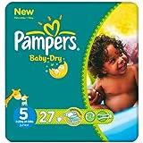 Pampers Baby Dry taille 5(11–25kg) Carry Pack Lot de 6x 27par lot