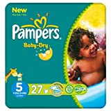 Pampers Baby Dry Größe 5 (11-25kg) Carry Pack 6 pack x 27 pro Packung