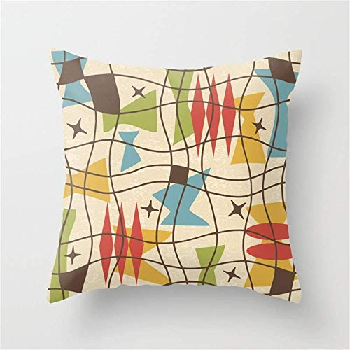 HOTNING Zierkissenbezüge, Throw Pillow Covers, Throw Pillow case, Mid Century Modern Abstract Pattern 571 Pillow Cushion Cover Case 18 X 18 inches -