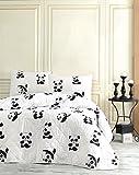 LaModaHome Bettwäsche-Set für Doppel- und Doppelzimmer, 65% Baumwolle, 35% Polyester, 100% Faserfüllung, Weiß/Braun / Grün/Türkis / Gelb